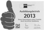 IHK Ausbildungsbetrieb 2013